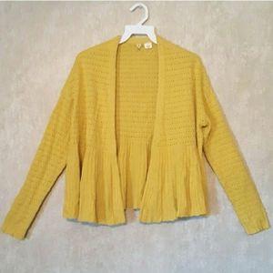 ANTHROPOLOGIE Yellow cashmere cardigan size XS
